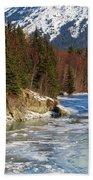 Portage Creek Portage Glacier Highway, Alaska Beach Towel