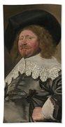 Portrait Of A Man  Possibly Nicolaes Pietersz Duyst Van Voorhout  Beach Towel
