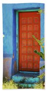 Red Door Adobe Beach Towel