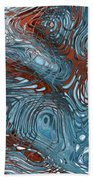 Red White And Blue Beach Towel