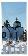 Russian Orthodox Church Ninilchik Alaska Beach Towel