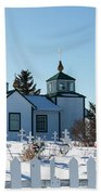 Russian Orthodox Church Ninilchik Alaska Beach Sheet