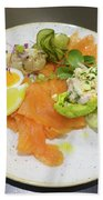 Seafood Platter Beach Towel