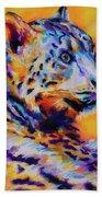 Snow Leopard Beach Towel