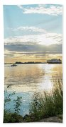 Sunset On The Elbe Beach Towel