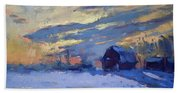 Sunset Over The Farm Beach Sheet