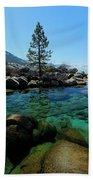 Tahoe Northern Island Beach Towel by Sean Sarsfield