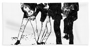 The Beatles Black And White Watercolor 02 Beach Towel