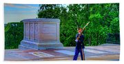 Tomb Of The Unknown Soldier Painting Beach Towel