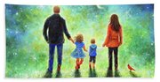 Twilight Walk With Mom And Dad Beach Sheet