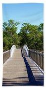 Western Lake Bridge Beach Towel