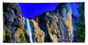 Winter Bridalveil Falls Beach Towel