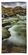 Winter River Rapids Beach Sheet