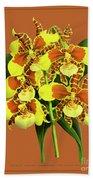 Orchid Vintage Print On Tinted Paperboard Beach Towel