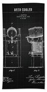 1876 Brewing Cooler - Black Blueprint Beach Towel