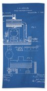 1885 Furnace Patent Beach Towel