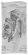 1887 Blair Photographic Camera Gray Patent Print Beach Towel