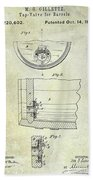 1897 Beer Barrel Tap Valve Patent  Beach Sheet