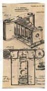 1899 Photographic Camera Patent Print Antique Paper Beach Towel