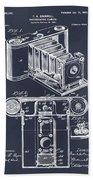 1899 Photographic Camera Patent Print Blackboard Beach Towel