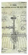 1902 Beer Tapping Device Patent Beach Towel