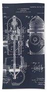 1903 Fire Hydrant Blackboard Patent Print Beach Towel