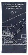 1903 Railroad Derrick Blackboard Patent Print Beach Towel