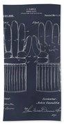 1914 Hockey Gloves Blackboard Patent Print Beach Towel