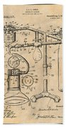 1919 Anesthetic Machine Antique Paper Patent Print Beach Towel