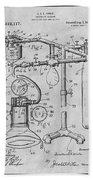 1919 Anesthetic Machine Gray Patent Print Beach Towel