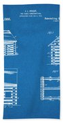 1920 Lincoln Logs Blueprint Patent Print Beach Towel