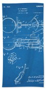 1924 Ice Cream Scoop Blueprint Patent Print Beach Towel