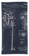 1929 Harley Davidson Front Fork Blackboard Patent Print Beach Towel