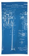 1929 Harley Davidson Front Fork Blueprint Patent Print Beach Towel