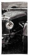 1930's Aston Martin Convertible Beach Towel