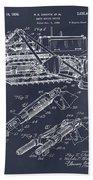 1932 Earth Moving Bulldozer Blackboard Patent Print Beach Towel
