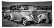 1933 Ford Tudor Sedan With Trailer Beach Towel