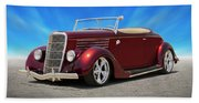 1935 Ford Roadster Beach Towel