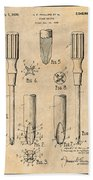 1935 Phillips Screw Driver Antique Paper Patent Print Beach Towel