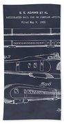 1935 Union Pacific M-10000 Railroad Blackboard Patent Print Beach Towel