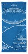1936 Reach Football Blueprint Patent Print Beach Sheet