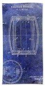 1937 Whiskey Barrel Patent Beach Towel