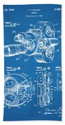 1938 Bell And Howell Movie Camera Patent Print Blueprint Beach Towel