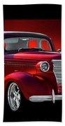 1938 Chevrolet Master Deluxe Sedan Beach Towel