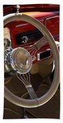 1938 Pontiac Silver Streak Interior Beach Towel
