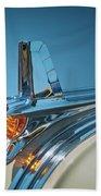 1953 Pontiac Hood Ornament Beach Towel