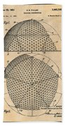1954 Geodesic Dome Antique Paper Patent Print Beach Towel