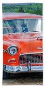 1955 Chevrolet Bel Air Nomad Beach Towel