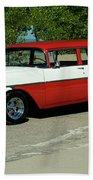 1956 Chevrolet Handyman Station Wagon  Beach Towel