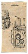 1960 Rolleiflex Photographic Camera Antique Paper Patent Print Beach Towel